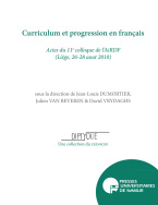 Curriculum et progression en français