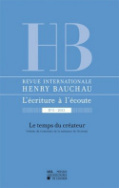 Revue internationale Henry Bauchau n°5 – 2013