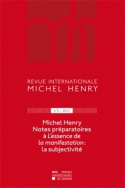 Revue internationale Michel Henry n°3 - 2012
