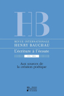Revue internationale Henry Bauchau n° 6 - 2014