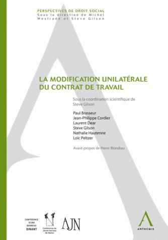 La modification unilatérale du contrat de travail   i6doc