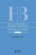 Revue internationale Henry Bauchau n°3 - 2010