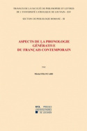 Aspects de la phonologie générative du français contemporain