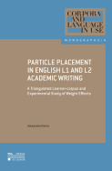 Particle Placement in English L1 and L2 Academic Writing